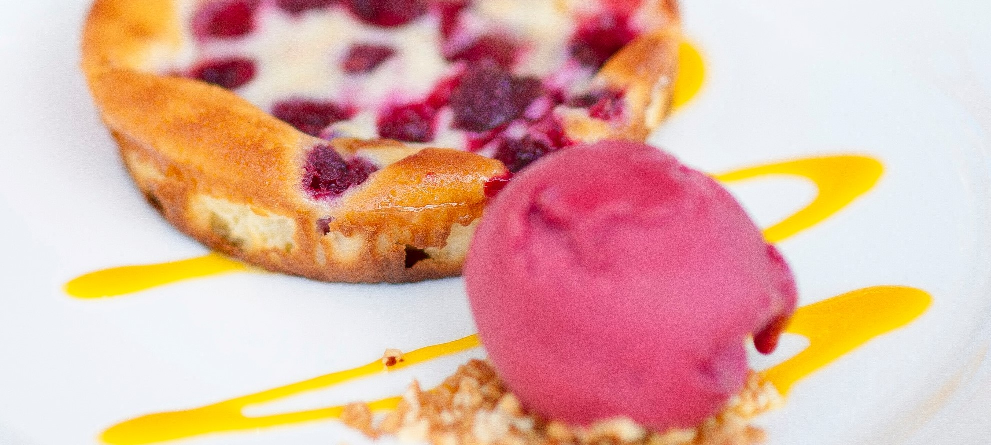 Clafoutis and Sorbet